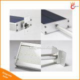 Lâmpada de parede impermeável ao ar livre solar da segurança do diodo emissor de luz 800lm da luz 48 do sensor de movimento do radar de micrôonda para o jardim da jarda do pátio