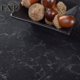 Pedra preta gracioso projetada de quartzo com veias