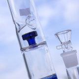 Neue Art-Glaspfeife mit blauer Filtrierapparat-und Loch-Trommel-Bienenwabe
