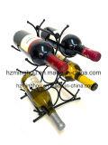 Suporte de frasco ereto livre do vinho da parte superior de tabela da cremalheira do vinho do metal