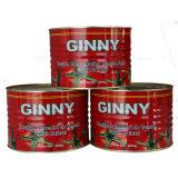 Ginny aseptique la pâte de tomate en conserve 70 g, 2200g Brix 28-30 %