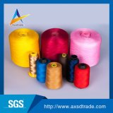 염색된 100% 회전된 폴리에스테 제조자 산업 자수 꿰매는 스레드