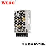 Vente chaude à sortie unique avec le bloc d'alimentation approuvé Nes-15 SMP de RoHS de la CE