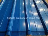 La case Profil Trapèze PPGI Roofing couleur des feuilles de toit de fer galvanisé