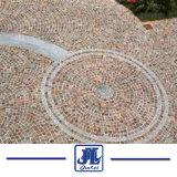 División Natural chino de cubo de pórfido rojo y verde adoquines piedra para el jardín