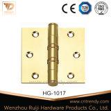 Dobradiça de bronze da dobradiça da ponta da cabeça de coroa da ferragem da porta (HG-1013)