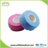 綿の乳液の自由な伸縮性がある凝集のガーゼのクレープの包帯