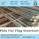 La entrega de un rayo de la Escuela de Gobierno en el exterior de acero inoxidable cónico de elevación Polo bandera al aire libre