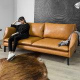 Moderner Entwurf 3 Seater ledernes Sofa für Hauptmöbel (HC-X10)