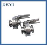 76,2 mm em aço inoxidável de Aço Inoxidável SS316L Medidas Sanitárias válvulas borboleta