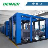 Compresseur d'air à vis à haute pression lubrifié industriel de type