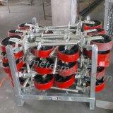 Neue doppelte Pedal-Bremsen-Roheisen PU-Fußrolle