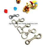 Crochet en alliage de zinc de rupture d'émerillon d'animal familier de vente chaude pour le sac de collier de laisse (HS6010)