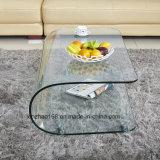 ガラス居間のコーヒーテーブルを和らげる半円