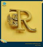 押された金属のロゴは反対の版によって金属IDの札に付ける