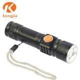Lanterna LED de alta potência de zoom portátil CREE Lanterna USB
