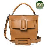 saco de couro 100% real Emg5175 da senhora ombro do projeto da forma da fábrica de Guangzhou da bolsa 2017