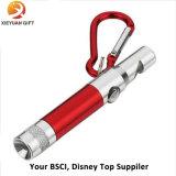 Promocional LED Light Keychain Whistle Keyring Whistle
