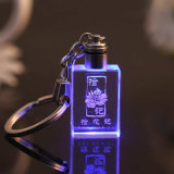 주문 로고 7 Color Luminescent Classmate Graduation Party Souvenir Company 공표 승진 창조적인 수정같은 열쇠 고리