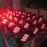 9pcs 5en1 inalámbrica y batería plana LED PAR