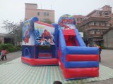 Huis van de Sprong Spiderman van Guangzhou het Commerciële Gebruikte Opblaasbare