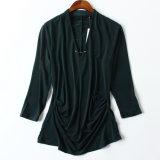 Vêtements Chiffon de vente en gros de chemise de collet de l'automne américain V de commande