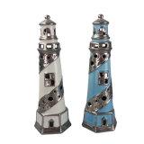 Faro di ceramica della decorazione creativa con Tealight