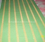 Pellicola rigida del PVC con la banda di scintillio dell'oro
