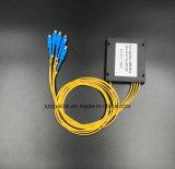 PLC van de Plastic Doos van de Telecommunicatie van Gpon van de Kabel van de vezel Optische 1X4 Splitser