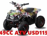 Optimista 49cc Quad ATV para niños de 49 cc Mini Mini Quad ATV ATV 49cc Quad
