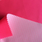100% Polyester Oxford Ripstop PU Milky Coated Fluorescence Pink Fabric