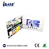 최고 판매 제품 6 인치 TFT LCD 영상 인사말 카드 LCD 영상 카드 영상 브로셔