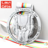 Médaille faite sur commande de Suvenir de compétition sportive d'époxy de bande de silicones pour la natation