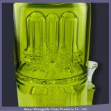 Hellgrüne Bienenwabe-Filtration-rauchendes Wasser-Glasrohr