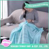 Couverture de chauffage de la Chine de course de maneton de coton vert cellulaire pour des gosses