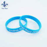 Logotipo impresso personalizado belas pulseiras de silicone/Pulseira de Borracha