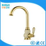De gouden Mixer van de Keuken van het Handvat van het Koude/Hete Water van de Kleur Enige