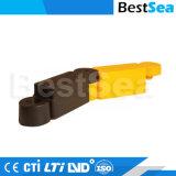 黒く及び黄色のゴム400mm長さの道の分離器