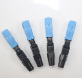 Connecteur optique de fibre uni-mode avec la perte par insertion inférieure pour le réseau