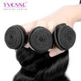 Venda por grosso de qualidade superior da extensão de cabelo brasileiro de ondas soltas 100 Virgem Hair tecem