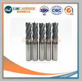 Tungsten carbide end to Mills with 2-6 Flutes