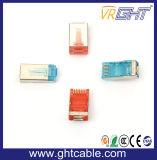 Высокое качество Glod оцинкованные экранированный разъем RJ45 8p8c