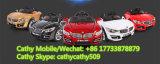 La BMW badine des roues du véhicule électrique quatre avec la lumière clignotante