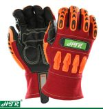 Arc-Flash TPR Anti-Impact resistente a la seguridad guante de trabajo para la soldadura