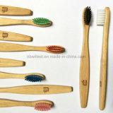 柔らかい剛毛が付いている子供のタケ歯ブラシ
