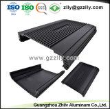 Radiatore di alluminio dell'aletta nera 6063 T5 con rifinitura d'anodizzazione