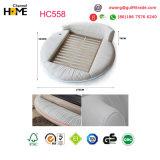 2017 populärster Bett-König Size Round Bedroom Furniture (HC558) des weißen Leder-