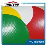 650GSM VinylGeteerde zeildoek van de Polyester van de kleur het pvc Met een laag bedekte voor de Tent van de Vrachtwagen
