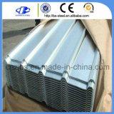 Hoja de acero acanalada galvanizada Dx51d primera del material para techos
