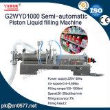 Machine de remplissage liquide de piston semi-automatique pour le shampooing (G2WYD1000)